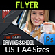 Driving School Flyer Template Vol.2 - GraphicRiver Item for Sale