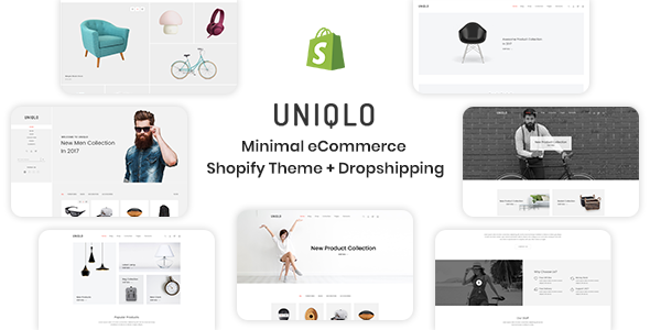 Uniqlo Minimal Ecommerce Shopify Theme By Devitems Themeforest