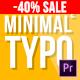 Minimal Typography 2 | Mogrt - VideoHive Item for Sale