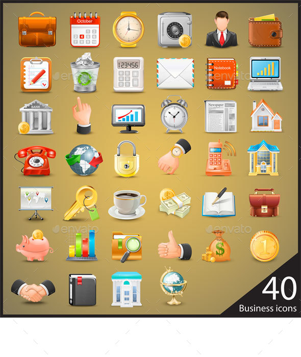 Business Icons Big Set - Business Icons