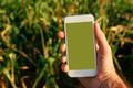 Smart phone agriculture app mock up screen - PhotoDune Item for Sale