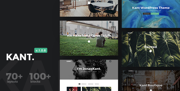 Kant - A Multipurpose WordPress Theme for Startups, Creatives and Freelancers - Creative WordPress