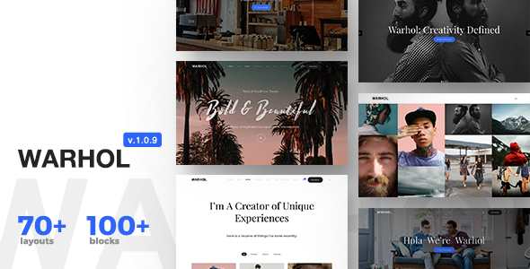 Warhol - Responsive Multipurpose WordPress Theme for Creatives - Creative WordPress