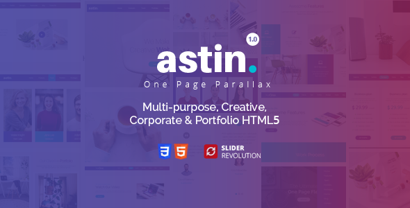 Astin - One Page Parallax Free Download | Nulled