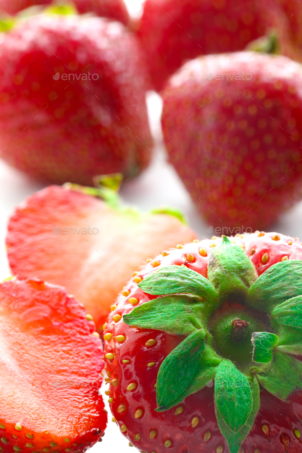 Red berry strawberry isolated on white background. - Stock Photo - Images