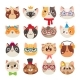 Cute Cats Heads. Cat Muzzle, Domestic Kitty Face - GraphicRiver Item for Sale