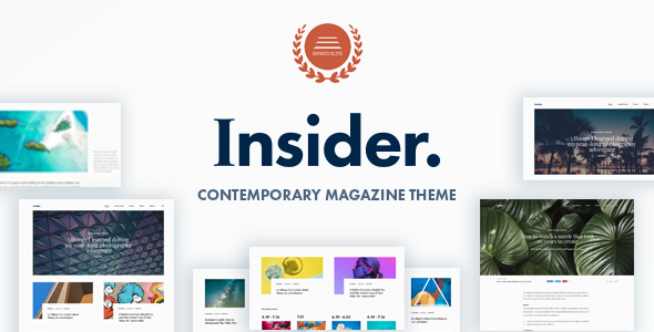 Insider - Contemporary Magazine and Blogging Theme
