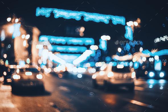 Blurred City Lights Backgrounds