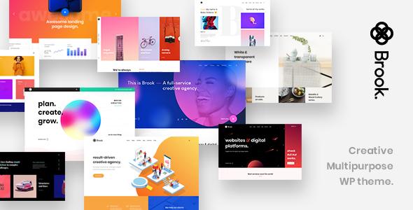 Brook - Creative Multipurpose WordPress Theme - Portfolio Creative