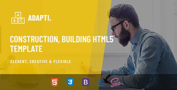 Extraordinary Adapti - Construction, Building HTML5 Template