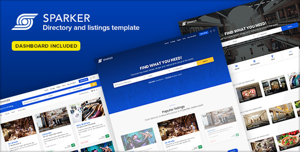 Sparker - Directory and Listings Template - Business Corporate
