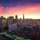 Aerial Panoramic View of San Francisco Skyline at Sunset - PhotoDune Item for Sale