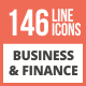 146 Business & Finance Line Multicolor B/G Icons - GraphicRiver Item for Sale