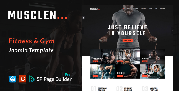 Musclen  – Fitness and Gym Joomla Template - Health & Beauty Retail