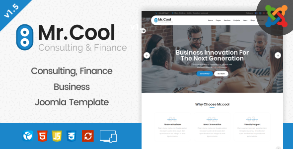 Mr. Cool - Consulting, Finance & Business Joomla Template - Business Corporate