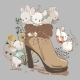 Cute Mouses in Boot - GraphicRiver Item for Sale