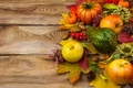 Background with fall leaves and apples, copy space - PhotoDune Item for Sale