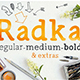 Radka: handmade font family + extras - GraphicRiver Item for Sale