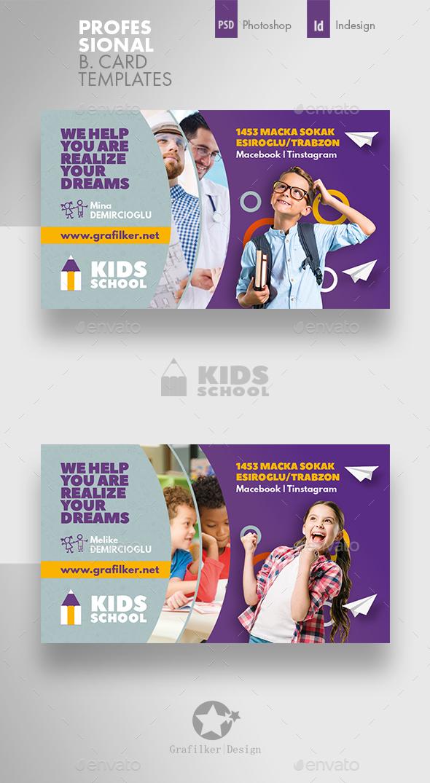 Kids School Business Card Templates - Corporate Business Cards
