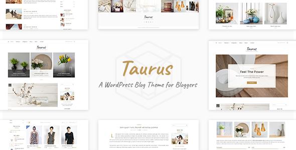 Taurus - Personal Blog Theme - Personal Blog / Magazine
