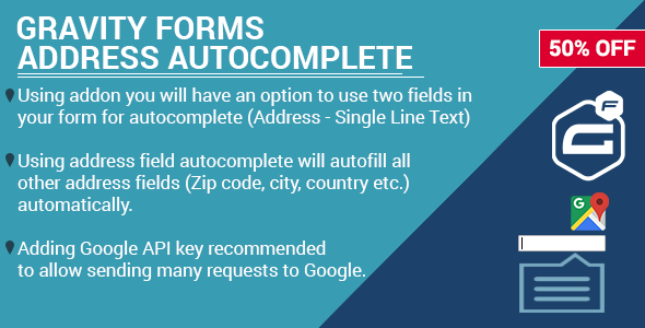 Gravity Forms Address Google Autocomplete - CodeCanyon Item for Sale
