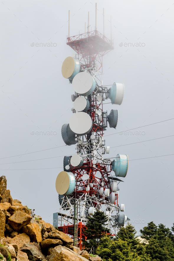 Communications Tower - Stock Photo - Images