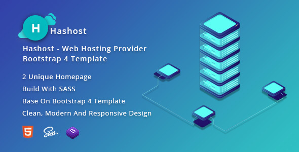 HasHost – Web Hosting Provider Bootstrap 4 Template
