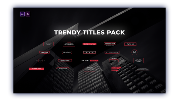 Free Download Trendy Titles Pack - for Premiere Pro & After