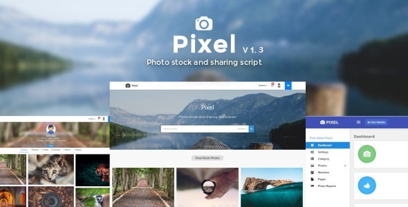 Pixel - Photo & Video stock sharing script