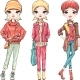 Set Fashion Girl in Autumn Clothes - GraphicRiver Item for Sale