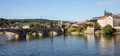 Panoramic view of Prague and Danube river at daytime, Czech Republic, wallpaper. - PhotoDune Item for Sale