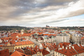 Aerial view of Prague from above, Czech Republic, cloudy day - PhotoDune Item for Sale