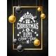 Free Download Merry Christmas Illustration with Gold Glass Ball Nulled