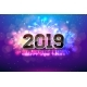 Free Download Happy New Year 2019 Illustration with Fireworks Nulled