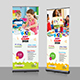 Kids Art Camp Roll-Up Banner - GraphicRiver Item for Sale