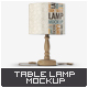 Table Lamp Mock-Up - GraphicRiver Item for Sale