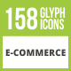 Free Download 158 E-Commerce Glyph Inverted Icons Nulled