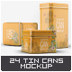 Tin Cans Mock-Up Bundle - GraphicRiver Item for Sale