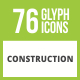 Free Download 76 Construction Glyph Inverted Icons Nulled