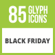Free Download 85 Black Friday Glyph Inverted Icons Nulled
