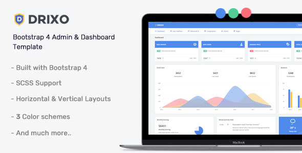 Drixo - Admin & Dashboard Template Free Download | Nulled