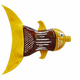 Plastic bottle recycled in a fish figure. Reuse garbabe. Isolated - PhotoDune Item for Sale