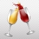 Free Download Vector Realistic Wine Glasses Splashing Nulled