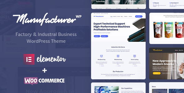 Manufacturer - Supplier, Factory & Trading Company WordPress Theme - Business Corporate
