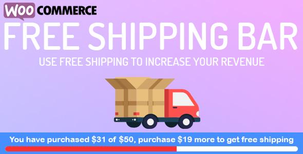 WooCommerce Free Shipping Bar - Increase Average Order Value - CodeCanyon Item for Sale