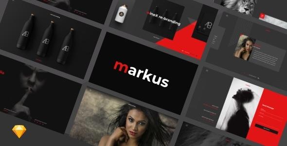 Markus – Creative Portfolio Full Screen Sketch Design