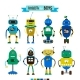 Cartoon Robots Set for Boys - GraphicRiver Item for Sale