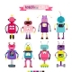 Cartoon Robots Set for Girls - GraphicRiver Item for Sale