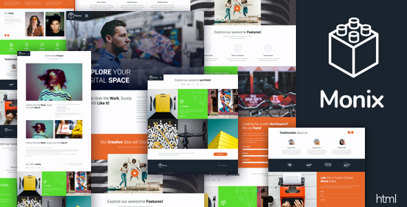 Monix - Creative HTML Template Free Download | Nulled