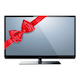 Vector Television with Red Bow - GraphicRiver Item for Sale